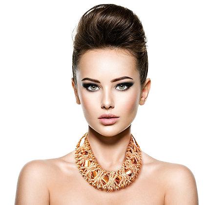 Metallic Collar Necklace Set