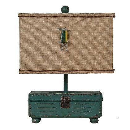 A Pair (2) The Fisherman's Tackle  Box Lamp