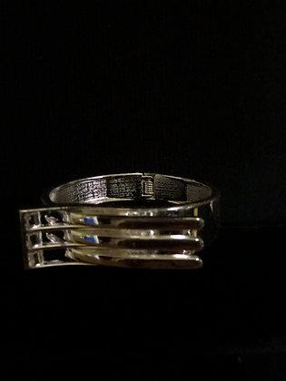 Silvertone Hinged Bracelet Designed Fork
