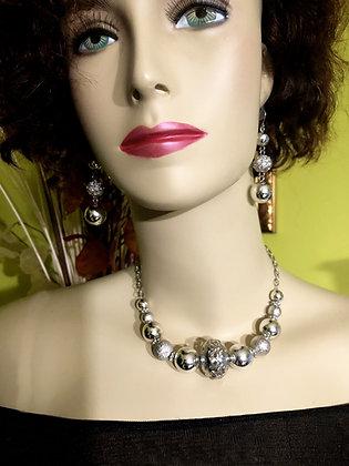 Silver-tone Necklace Set