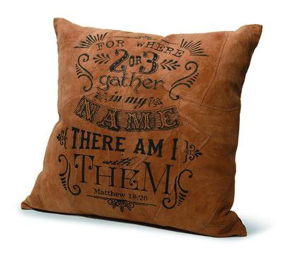 """2 OR 3 GATHERED"" RECYCLED LEATHER PILLOW"