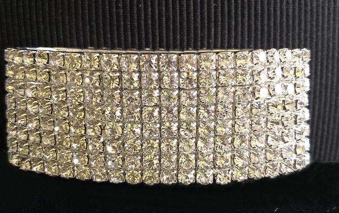 8-Tiered Sparkling Rhinestone  Stretch Bracelet