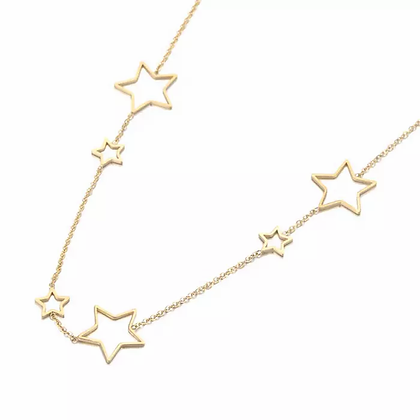 Stainless Steel Star Studded Necklace