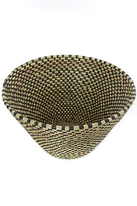 Black Checkerboard Funnel Basket