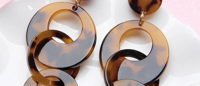 Acrylic Multi-circle Drop Earrings