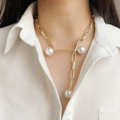 Choker Necklace Multilayer Pearl