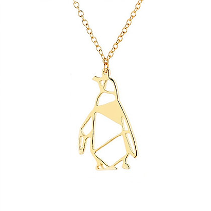 Unique Stainless Steel Penguin  Necklace