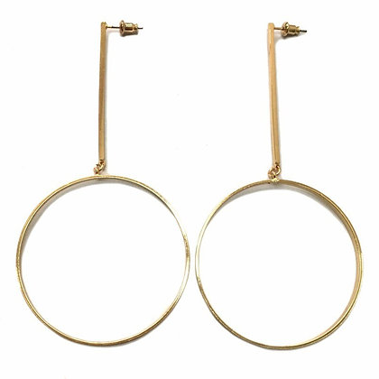 Sassy Gold-tone Circle Earrings