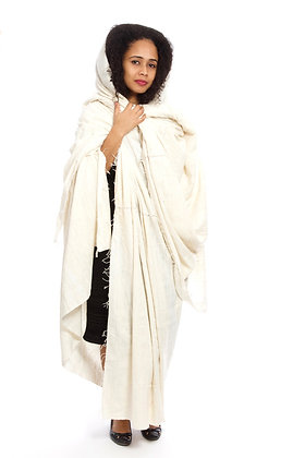 Ivory Handspun Cotton Heirloom Linen