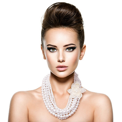 Flower and Pearl Necklace Set