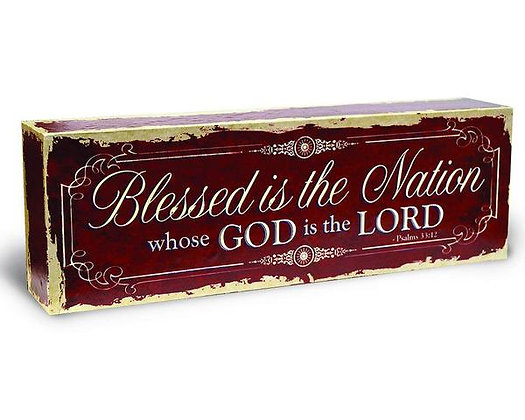 God Bless This Nation with a Rustic Design