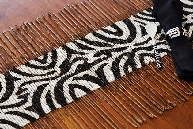 Zebra Print Twig Table Runner