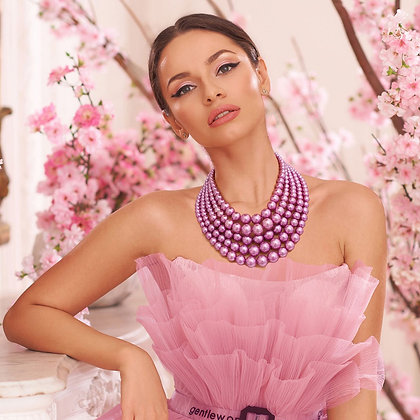 Light Purple Pearl Bead 5 Strand Set