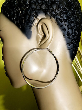 Uniquely Designed  Silver-like Hoops