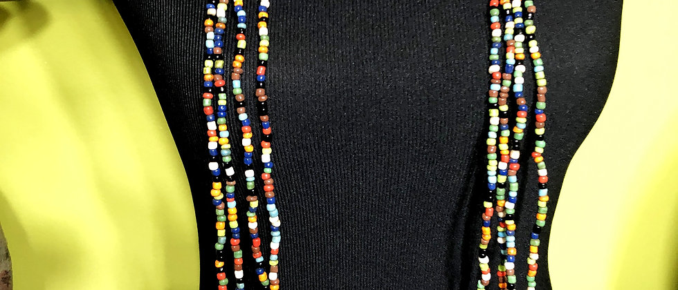 Glass Seed Bead Necklace 96 Inches