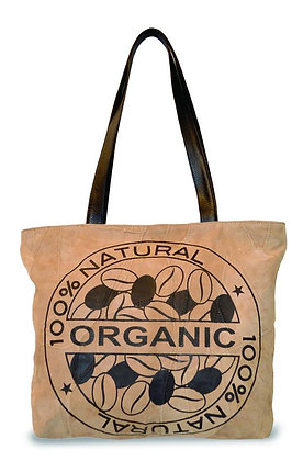 """100% ORGANIC""  RECYCLED LEATHER TOTE"