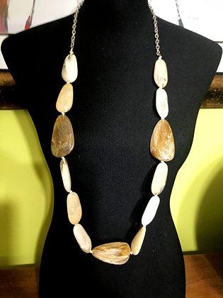Oblong Resin Necklace w/ Earrings