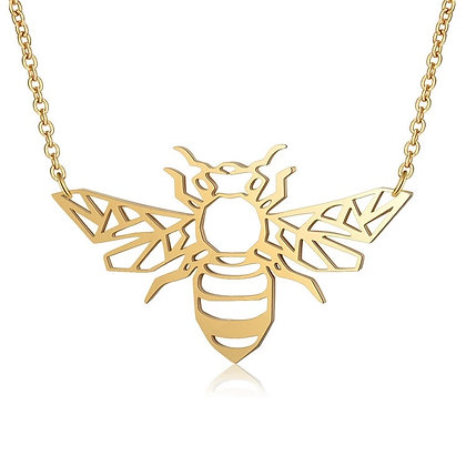 Unique Stainless Steel Bee Necklace