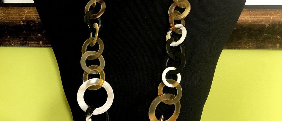 100% Buffalo Horn Necklace with Horn Earrings