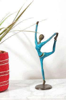 Burkina Bronze Yoga Dancer Pose Sculpture