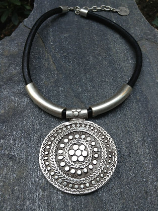Antiquated Silver-Colored Bohemian Style Necklace