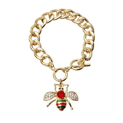 Bumble Bee Rhinestone Bracelet