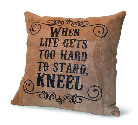 """WHEN LIFE GETS TO HARD"" RECYCLED PILLOW"