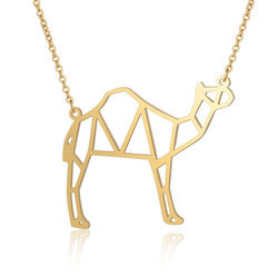 Unique Stainless Steel Camel Necklace