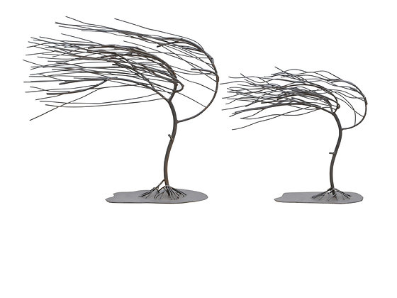 Windy Woods Tree Metal  Sculptures