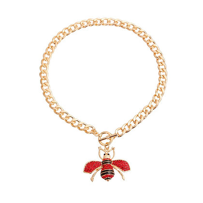 Red Bee Toggle Necklace