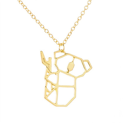 Unique Stainless Steel Koala Bear Necklace