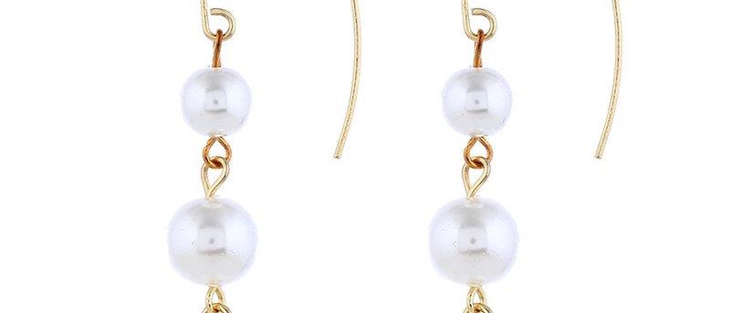 Temperament Long Pearl Earrings