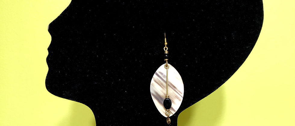 Uniquely Designed Buffalo Horn Styled Earrings