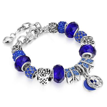 Blue Highlighted Charm Bracelet