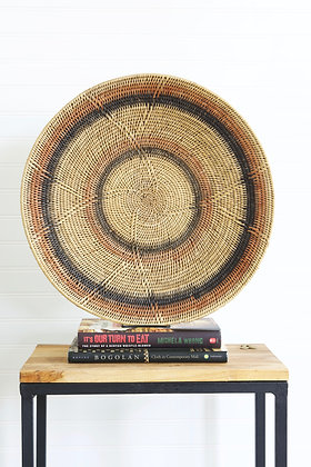 Makenge Root Wedding Baskets from Zambia - Peach & Black Rings