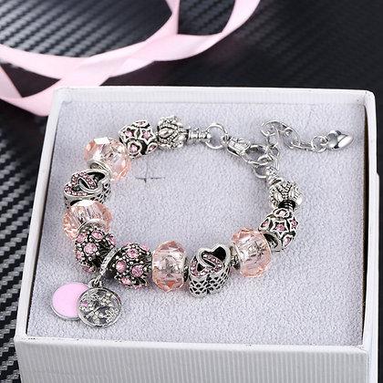 Pink Highlighted Charm Bracelet