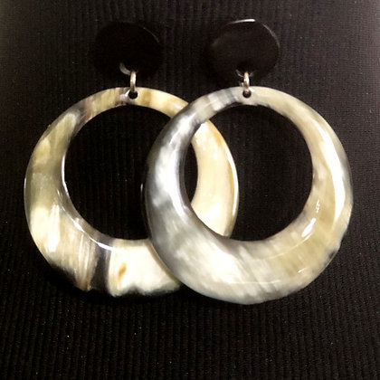 100% Handmade Buffalo Horn Earrings