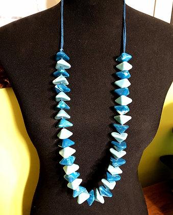 Chunky Pyramid Shaped Acrylic Necklace