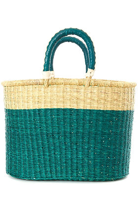 Curaçao Color Shopper with Leather Handles