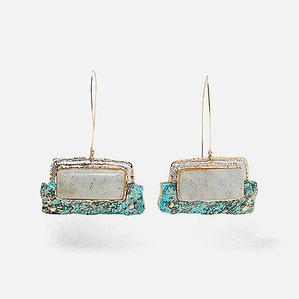 Creative Ethnic Stone Drop Earrings