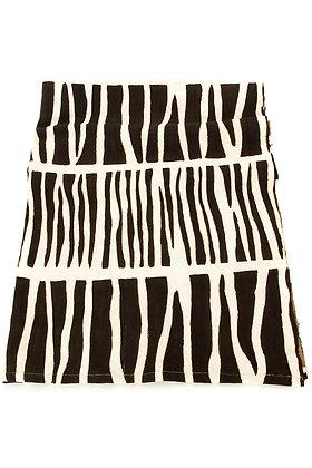 Zebra Taste Organic Cotton Mudcloth Throw