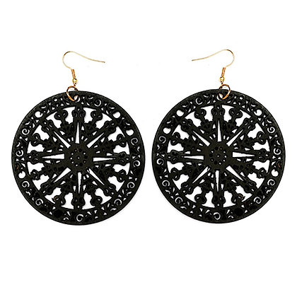 Wooden Spiral Earrings