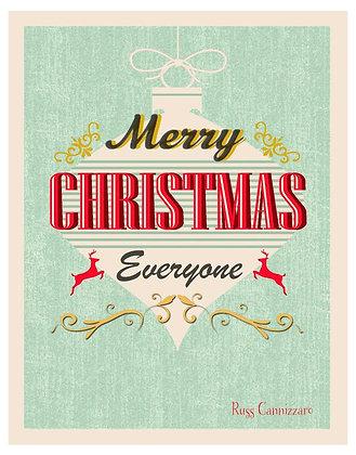 MERRY CHRISTMAS RETRO ORNAMENT