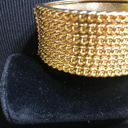 Goldtone Rope Designed Bracelet