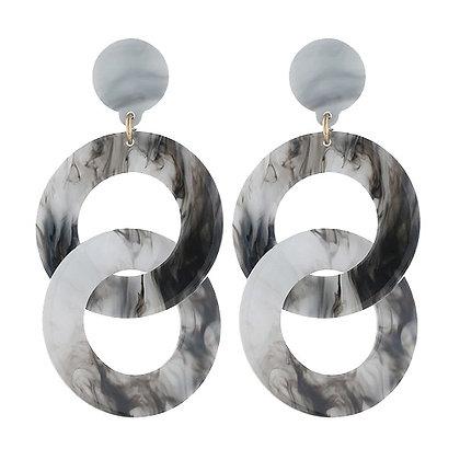 Geometry Wrap Chain Earrings