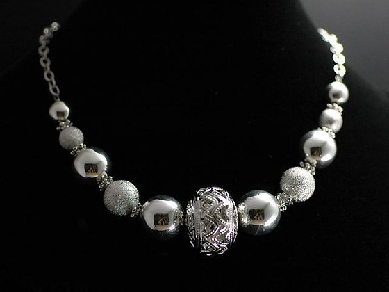 Crystal Accented Choker Set
