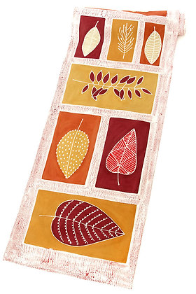 Hand Painted Leaves Table Runner