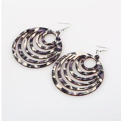 Leopard Spiral Earrings