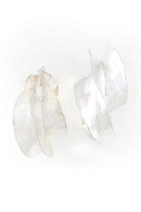 Large Sterling Silver Fulani Earrings