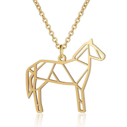 Unique Stainless Steel Horse Necklace